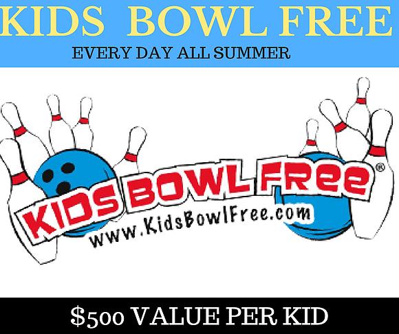 Kids Freebie - Kids Bowl FREE All Summer