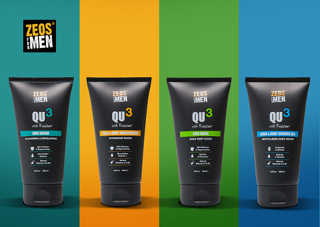 Zeos For Men QU3 Urban Skincare Range - Bearded Couture