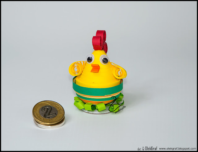 382. Kurka do koszyczka quilling / Quilling little chicken