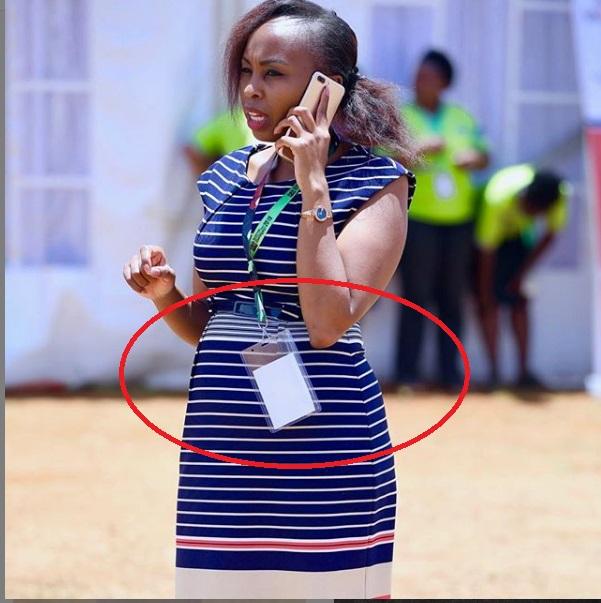 "is%2Bnjoroge%2Bpregnant - PHOTO! Who is the sharp-shooter? Jubilee's flower-girl, PAULINE NJOROGE, looks pregnant, ""Chakula ya wakubwa."""