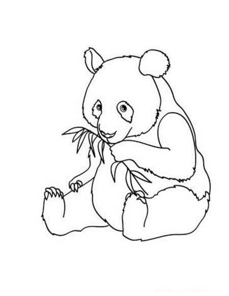 Cute Baby Panda Coloring Pages for Kids >> Disney Coloring ...