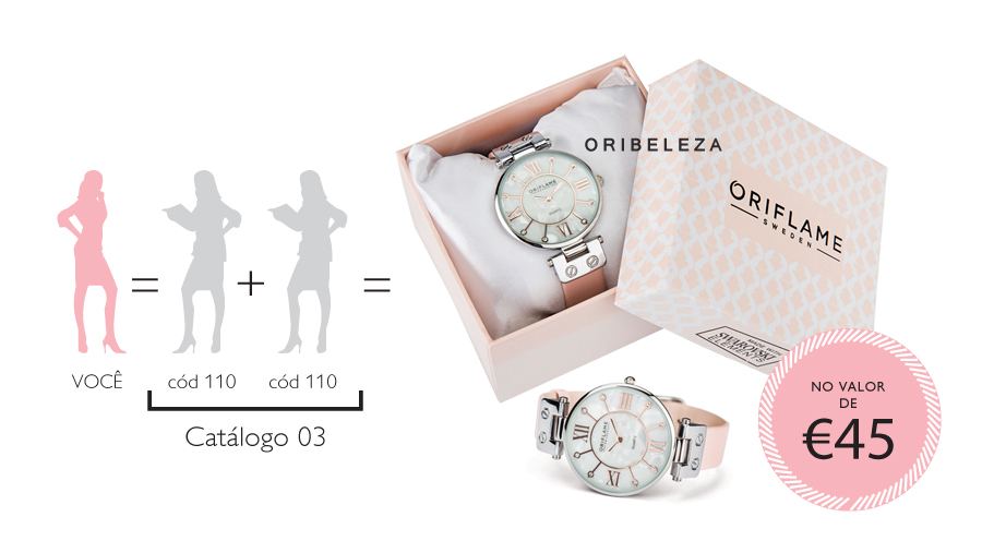 Relógio Pink Delight da Oriflame