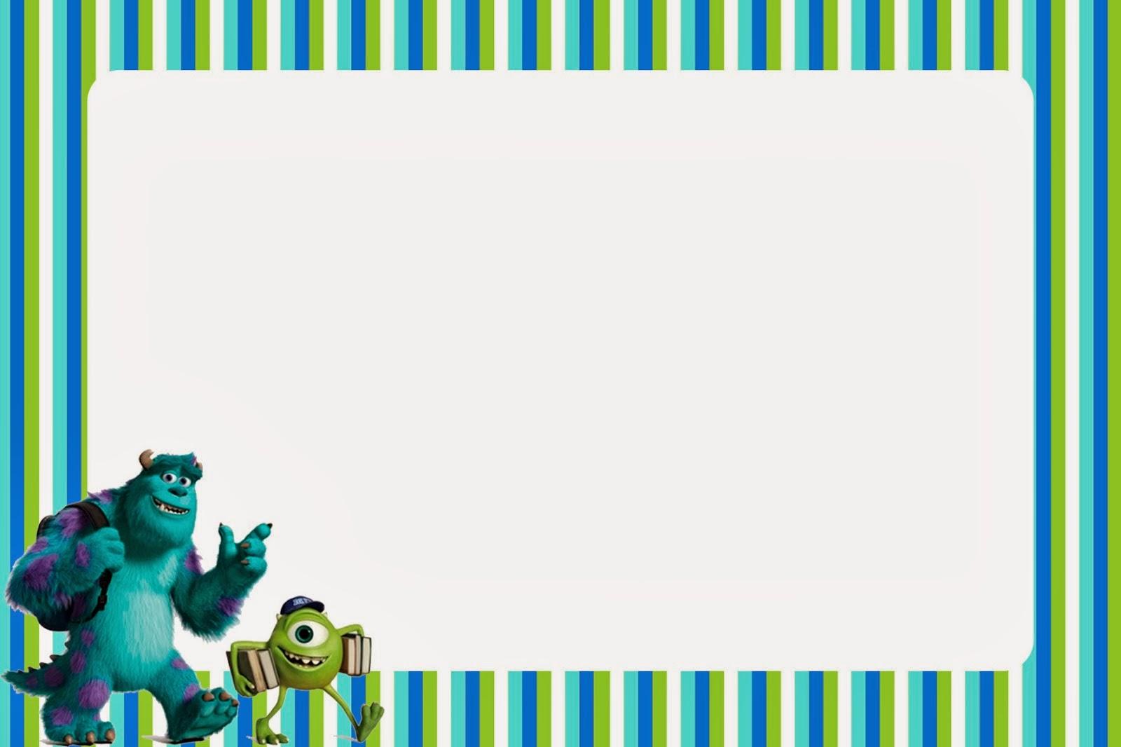 Invitaciones e Imprimibles de Monsters University para Imprimir ...