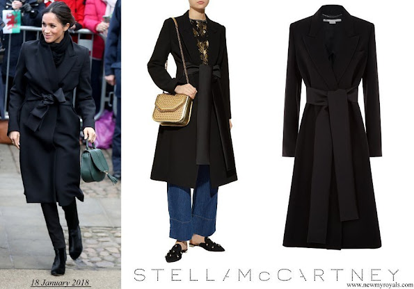 Meghan Markle wore Stella McCartney Tie Detail Coat