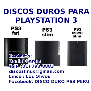 iscos Duros Para Ps3 Fat,PS3 Slim, PS3 Super Slim, PS3 Super Slim 12. 500 GB, 1 TB, Adaptadores - Mounting Bracket. Ventas envios instalaciones delivery soporte en Lima Peru