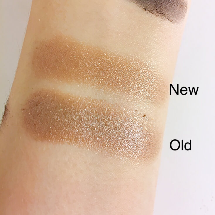 wet n wild coloricon Eyeshadow Single old vs new Nutty swatches