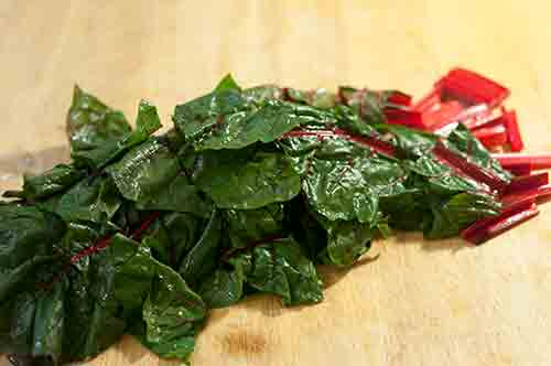 Things wot I Made Then Ate: swiss chard with bacon pearl onion and ...