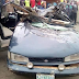 Photos: One dead as over speeding fuel truck falls and crushs a car on Ikorodu road