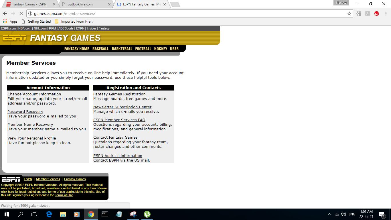 Naheez Thawfeeg's Blog: ESPN