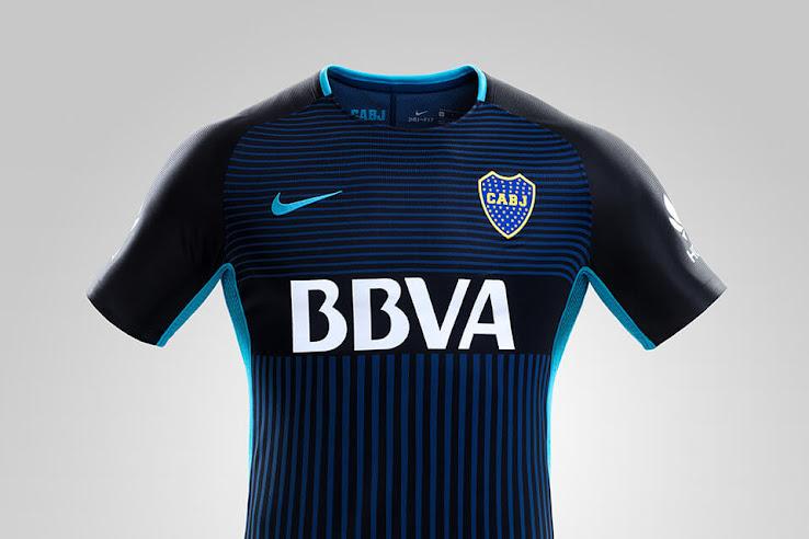 best service 79a1f 0e9cd Stunning Nike Boca Juniors 2017-18 Third Kit Released ...