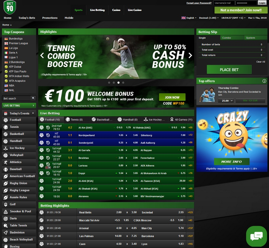 Bet90 Sportsbook