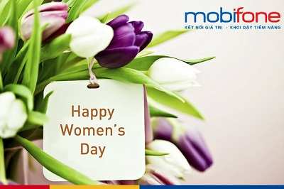 Mobifone khuyến mãi 100.000đ cho khách hàng nữ