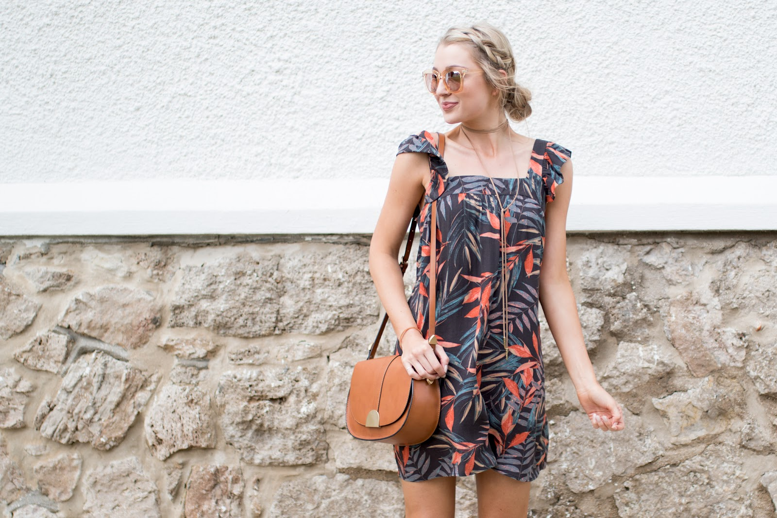 Tropical shift dress for summer