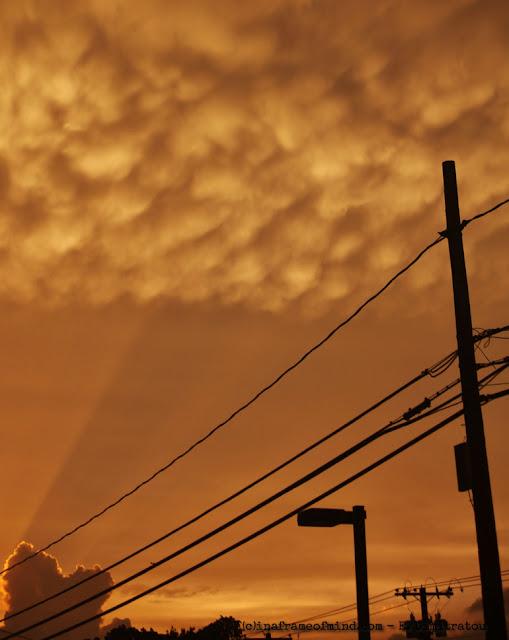 mammatus clouds NY