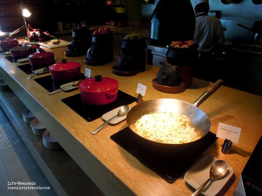 Filipino food station at New World Hotel's Cafe 1228