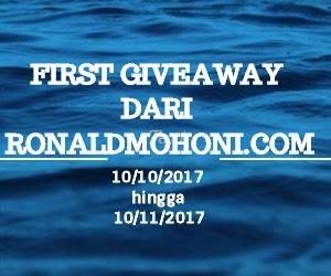giveaway, First Giveaway Dari Ronaldmohoni.Com