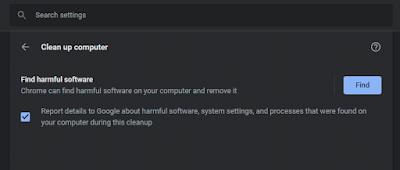 أداة تنظيف Chrome