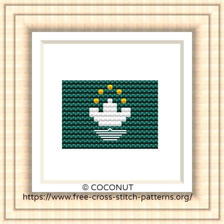NATIONAL FLAG OF MACAU CROSS STITCH CHART