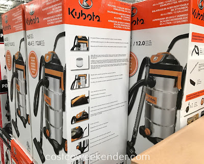 Kubota Wet/Dry Vacuum: industrial strength