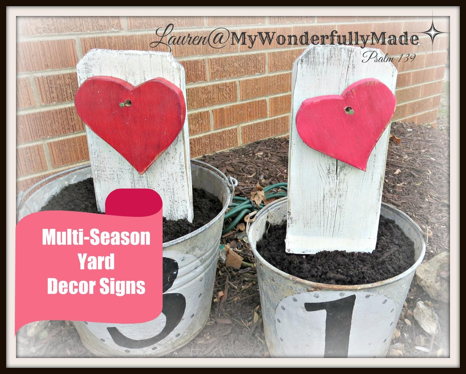 Wonderfully Made Multi Season Yard Decor Signs