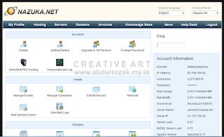 [Hosting] Cara Order Domain Gratis di Nazuka.Net Unlimited
