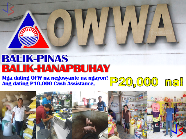 UPDATE: P20,000 na ang halaga ng ibinibigay na paunang puhunan ng OWWA!  The Balik-Pinas, Balik-Hanapbuhay (BPBH) is a non-cash livelihood support/assistance intended to provide immediate relief to returning member OFWs, active or non-active who is displaced from their jobs due to war/political conflicts in host countries or policy reforms controls and changes by the host government or is victims of illegal recruitment and/or human trafficking or other distressful situations.  The assistance consists of 2-day techno-skills and/or entrepreneurial development training and livelihood starter kits worth ₱10,000.00 that will aid the beneficiaries towards self employment. This reintegration program is OWWA's way of mainstreaming returning OFWs into Philippine society by way of self-employment or livelihood project as a means of income-generation for the family even after their overseas employment.  Among the preferred start-up businesses were Rice Trading, Hog Raising, Agri-Business, Furniture Repair, E-loading, Handicraft and Appliance Repair. Most of the recipients ventured into rice-trading business given that rice is the primary staple food in our country and easy to trade. Majority of the distressed OFW-beneficiaries were females who worked as household service workers.  The OWWA Region 2, in collaboration with the DTI - Nueva Vizcaya conducted a one day BPBH Program to Overseas Filipino Workers on March 30, 2017 at the Livelihood and Pasalubong Center. 46 OFW participants attended the seminar. They were provided with the pro-forma of a Simplified Business Plan and each part of the plan was clearly explained as part of their workshop. The activity offered the financial amount of ₱10,000.00 to encourage the OFWs to start their business rather than go back abroad.  In NCR, 24 beneficiaries of the BPBH Program completed their skills training and received their starter kits at the Ultima Entrepinoy Center in E. Rodriguez Ave., Quezon City on 5 April 2017. On the other hand, 15 beneficiaries completed their skills training and received their starter kits at the Negoskwela Livelihood and Training Center in Diliman, Quezon City on 10 April 2017.  In Cotabato City, the Overseas Workers Welfare Administration – Autonomous Region in Muslim Mindanao (OWWA-ARMM) has granted BPBH livelihood assistance to Forty (40) distressed, displaced Overseas Filipino Workers (OFWs) on April 18, 2017.  The BPBH Program of the OWWA is continuing, bolstered by the 2-Billion Peso allocation coming from President Duterte. For sure, many OFWs will avail of this repatriation program.  To know more, visit the OWWA Website.