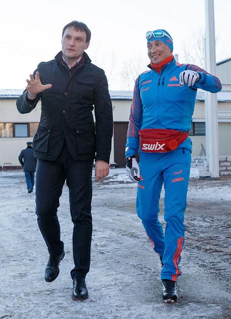 Александр Легков и Сергией Пахомов Пересвет Сергиев Посад
