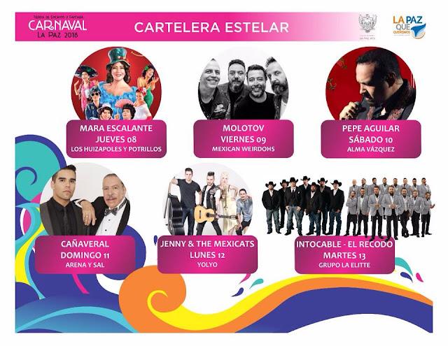 artistas carnaval la paz 2018