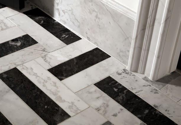 Black white tile floor patterns for bathroom design - Black and white bathroom floor tile designs ...
