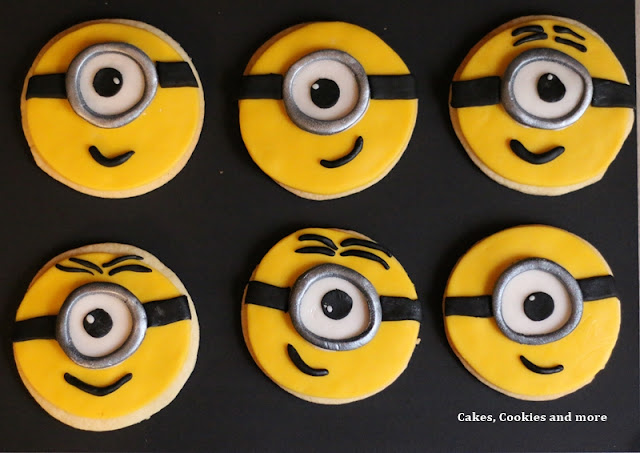 Minion Cookies mit Anleitung