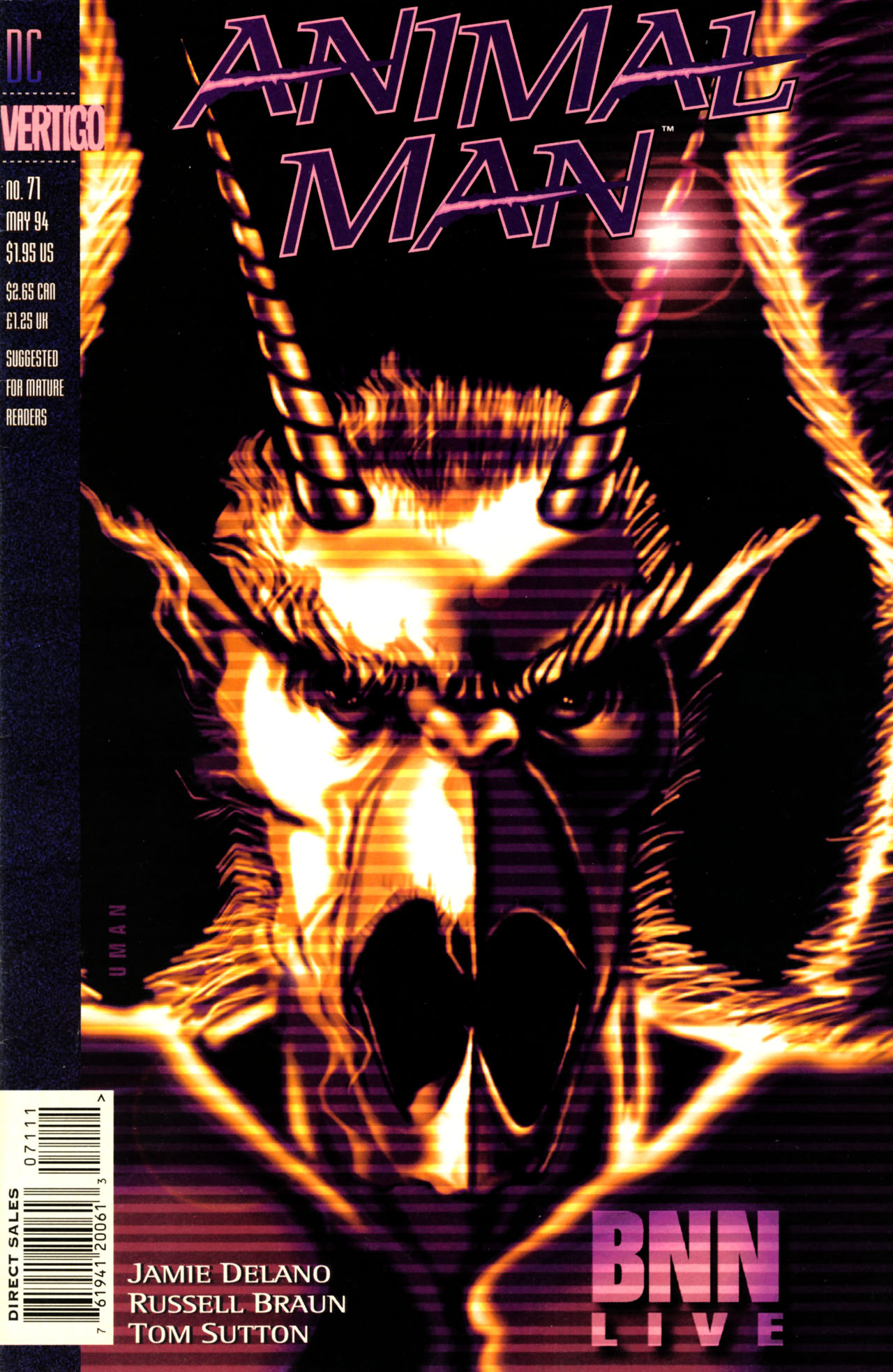 Animal Man (1988) 71 Page 1