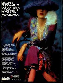 propaganda Trevira - 1973. moda década de 70.