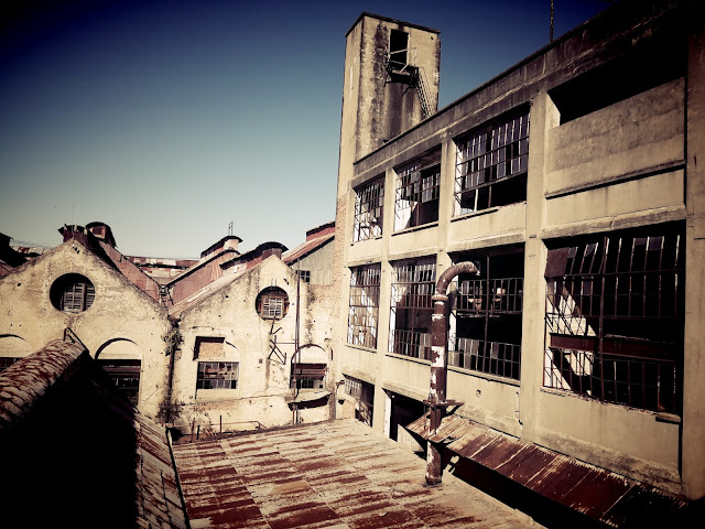 Vista desde la entrada a Frigoríficos de la Fábrica en Fray Bentos