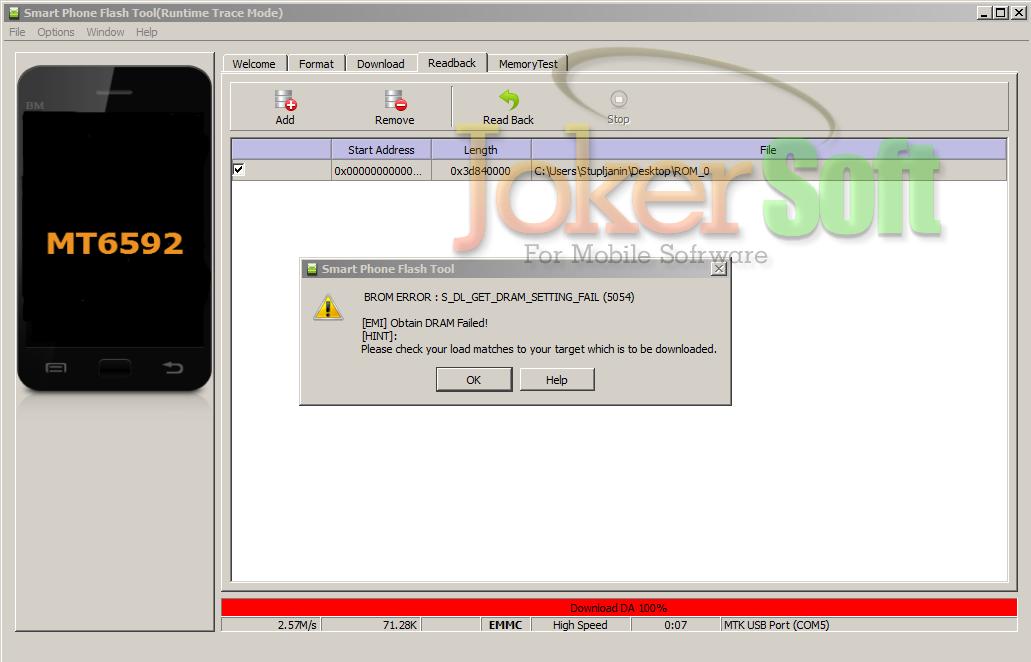 حلول بعض الاخطاء التى تظهر اثناء التفليش على برنامج SP Flash Tool