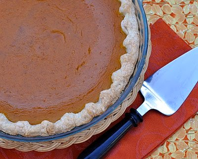 Honey Pumpkin Pie ♥ AVeggieVenture.com, homemade and sweetened with honey not processed sugar.