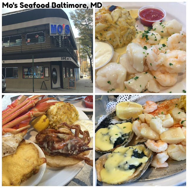 Mo's Seafood in Inner Harbor Baltimore, Maryland. A delicious seafood restaurant option located in the Inner Harbor area! Great service and amazing quality seafood options! A must try in the Baltimore, Maryland area if you're traveling!