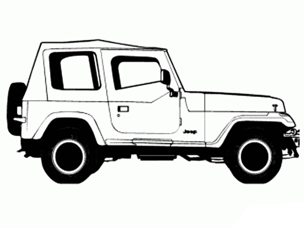 Lifted Jeep Wrangler Coloring Page Coloring Pages