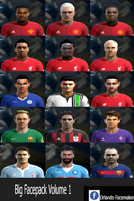 PES 2013 Big Facepack Volume 1 by Orlando Facemaker
