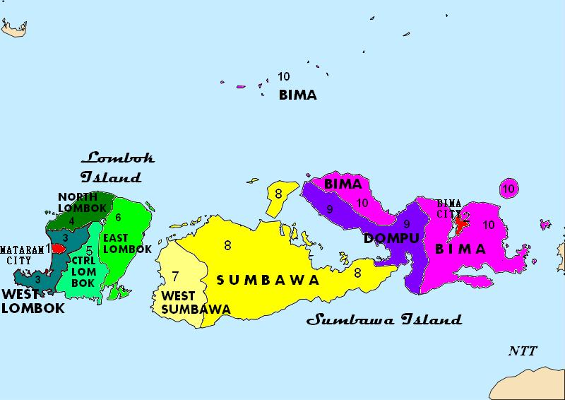 daftar kabupaten dan kota di provinsi nusa tenggara barat