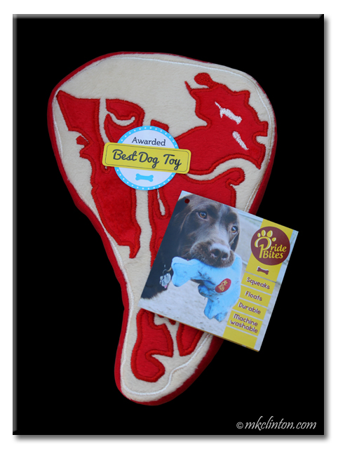 PrideBites steak toy is perfect to sink your teeth into and save 20% with code MKCLINTON