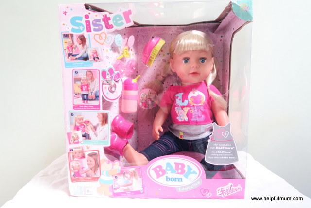 interactive sister baby born