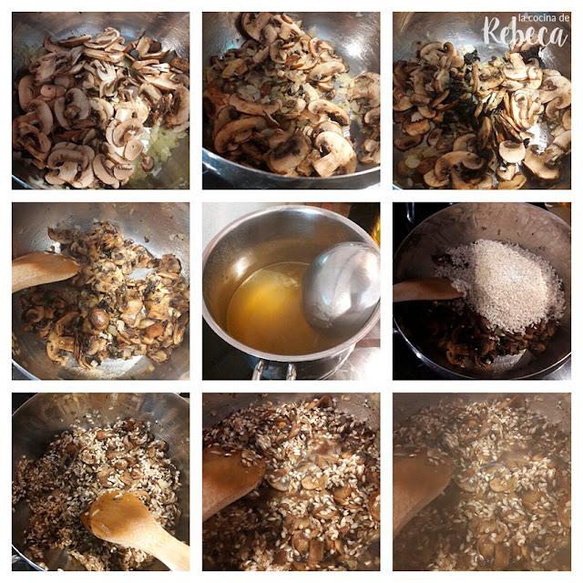 Receta de risotto de champiñones, ajo negro y cebolla negra 02