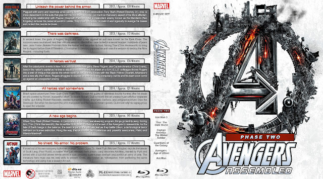 Avengers Assembled Phase Two Collection Bluray Cover