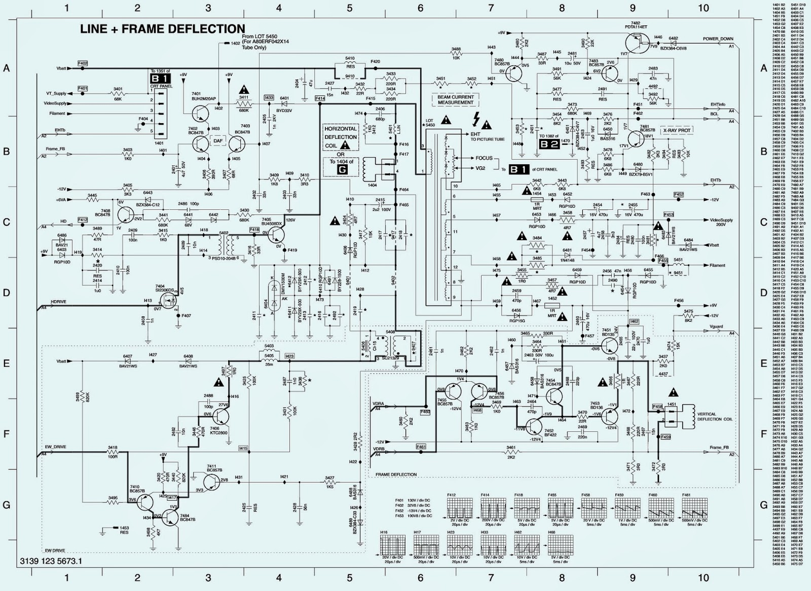 PHILIPS TV  L04A CHASSIS  POWER SUPPLY [SMPS] & SCAN OUT