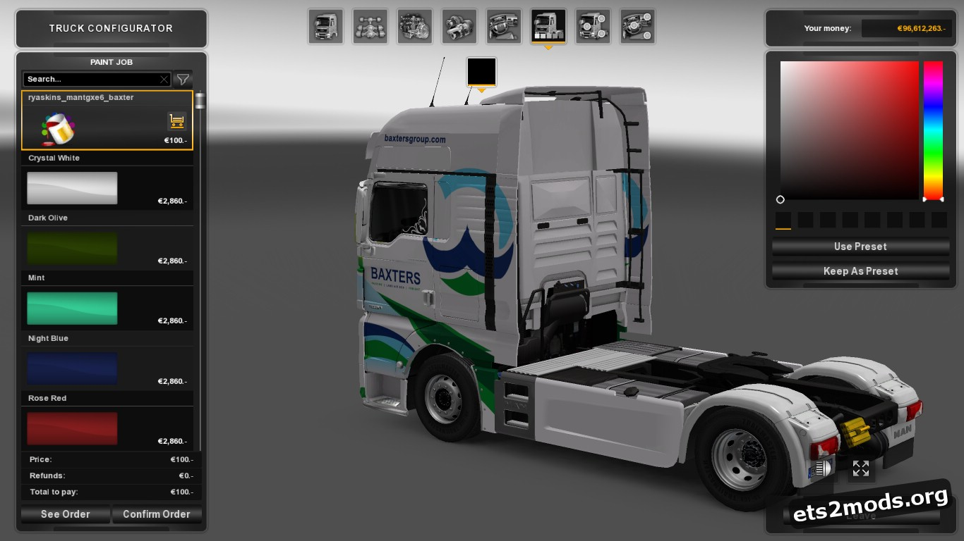 Baxters Group Skin for MAN Euro 6