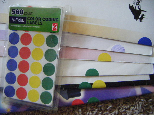 Piano Studio Organization Music Organized with Dot Stickers