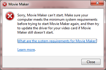 Movie maker issues