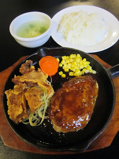 Chinese Food and Steak Restaurant Kobayashitei Hamburg Steak and Fried Chicken Towada ステーキ中華料理 こばやし亭 十和田市 ハンバーグとからあげ2個
