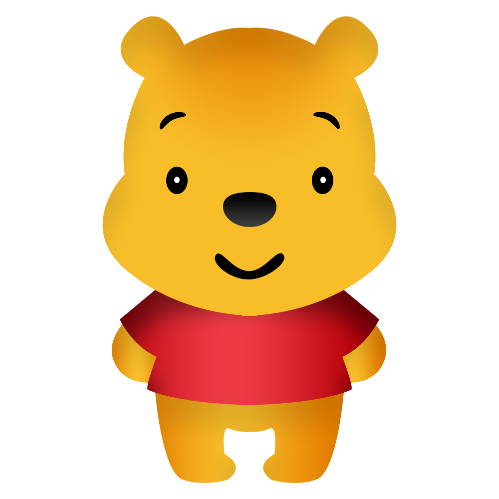 Pooh Cartoon 3d Vector Png