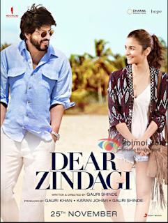 Dear Zindagi 2016 Hindi BRRip 500mb 480p HEVC x265